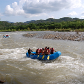 rapids river extreme sport rafting Huatulco Mexico