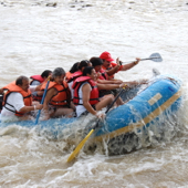 waterfall river rafting Mexico